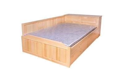 Легло Масив Приста 42 - с 2 бр. чекмеджета и ракла