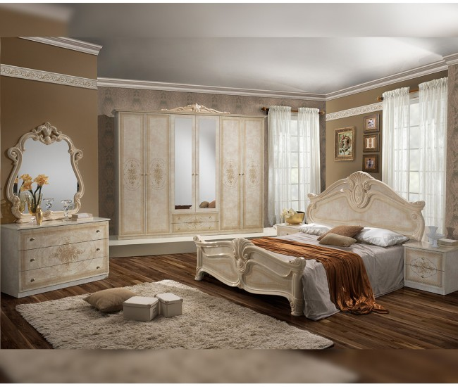 Луксозен спален комплект Amalfi Beige 160/200