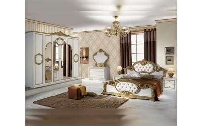 Луксозен спален комплект Barocco Bianco Gold