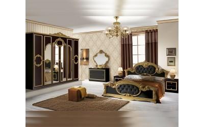 Луксозен спален комплект Barocco Nero