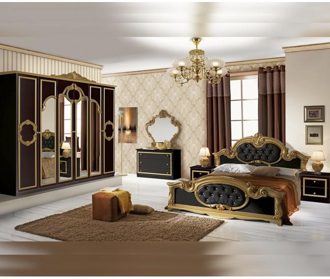 Луксозен спален комплект Barocco Nero 160/200