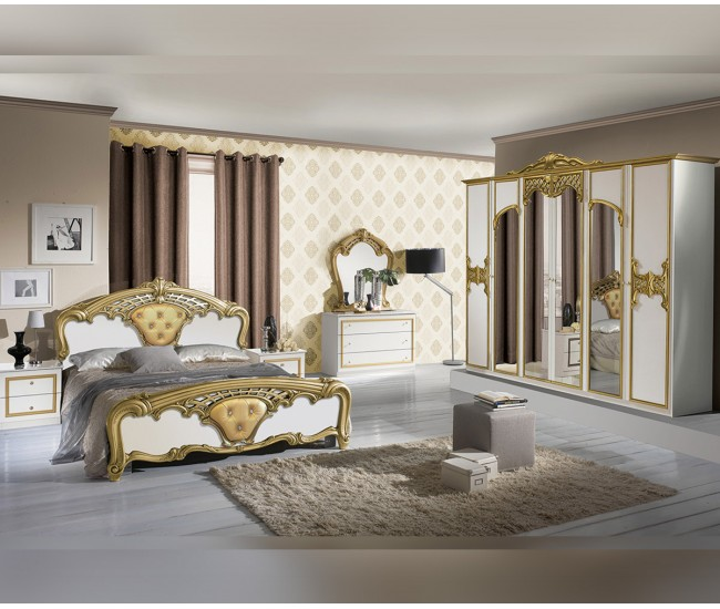 Луксозен спален комплект Eva Bianco Gold 160/200