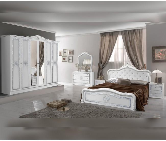 Луксозен спален комплект Luisa Bianco Silver 160/200