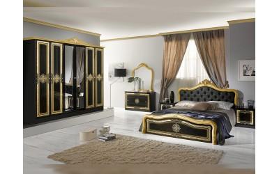 Луксозен спален комплект Luisa Nero Gold