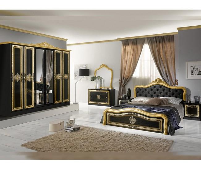 Луксозен спален комплект Luisa Nero Gold 160/200