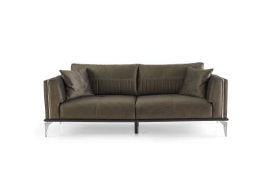 Троен диван CARMEN с функция сън и ракла - кафяв