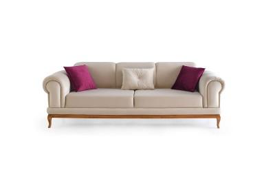 Троен диван INCI с функция сън - бежов