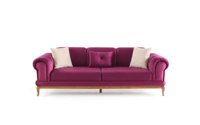 Троен диван INCI с функция сън - лилав