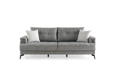 Троен диван NEVA с функция сън и ракла - сив