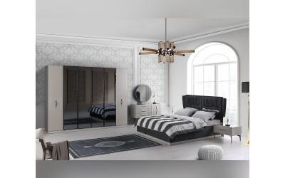 Луксозен спален комплект SALDA NEW 160/200 см. - бежово