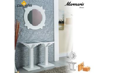 Тоалетна масичка Marmaris с огледало - Бял