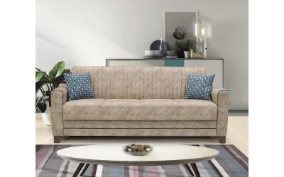 Луксозен клик-клак диван ACELYA с ракла - бежов