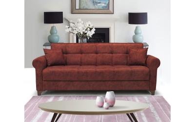 Луксозен клик-клак диван BERGEN с ракла - бордо