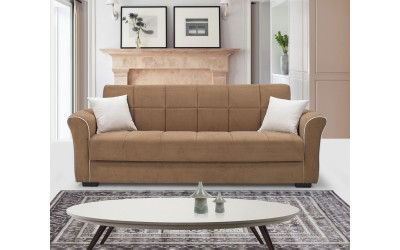 Луксозен клик-клак диван JADE с ракла - бежов