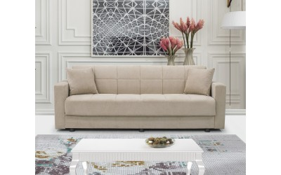 Луксозен клик-клак диван MARBELLA с ракла - бежов