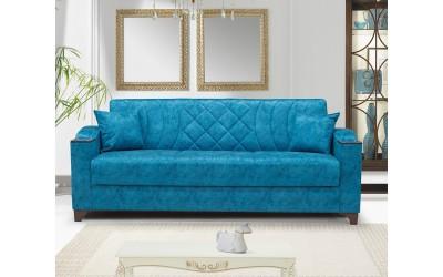 Луксозен клик-клак диван SEHBA с ракла - тюркоаз