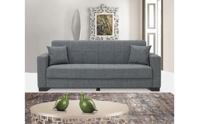 Луксозен клик-клак диван VERMONT с ракла - сив