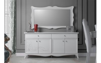 Бюфет с огледало Giselle - Бял