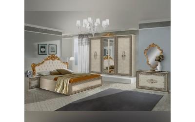 Луксозен спален комплект ANETE 160/200 - Бежов