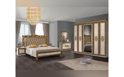 Луксозен спален комплект SIENA 160/200 - Бежов