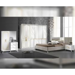 Луксозен спален комплект Beata - Bianco/Gold