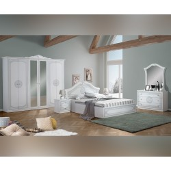 Луксозен спален комплект Cleopatra 160/200 - Бял