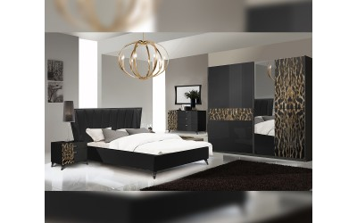 Луксозен спален комплект Savana Leopard