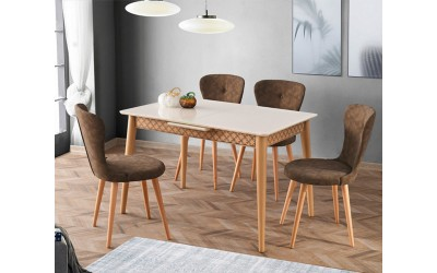 Комплект маса VENUS 1119 и столове LOREN 2126