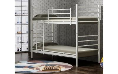 Двуетажно легло DAMLA 90/200 см, разглобяемо, метал - сиво