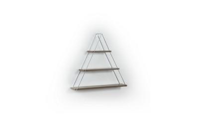 Триъгълна стенна етажерка MT191001 Орех/Хром