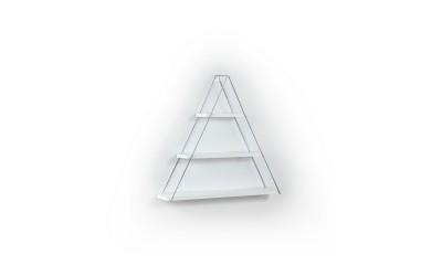 Триъгълна стенна етажерка MT191003 Бял/Хром