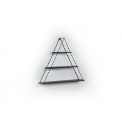 Триъгълна стенна етажерка MT191005 Черна