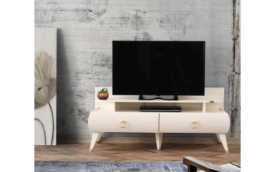ТВ шкаф Sahra 273 - Бял