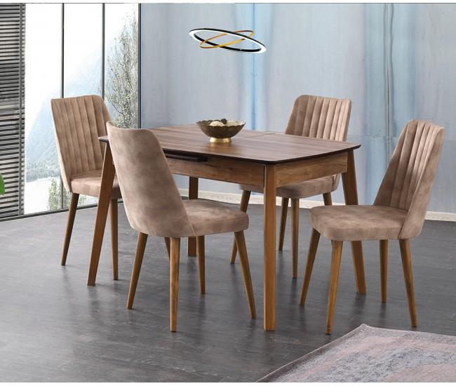 Комплект разтегателна трапезна маса  със столове