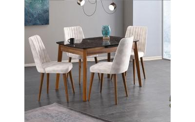 Комплект маса Ece 550 със столове Milano 140