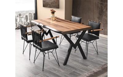 Комплект маса Gala Kutuk 565 със столове Peynez 372