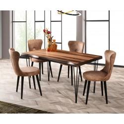 Комплект трапезна маса Inka Kutuk 566 със столове Ela 380