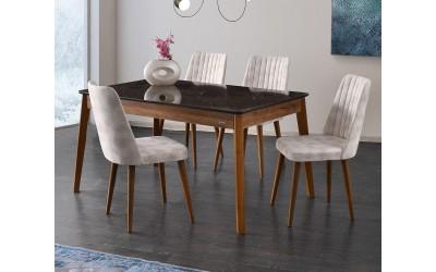 Комплект маса Lotus 533 със столове Milano 140