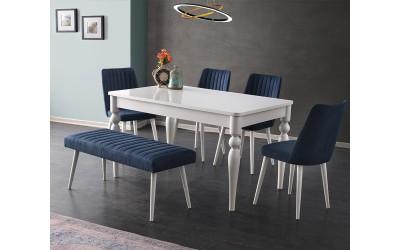 Комплект маса Marino 510 със столове Milano 155 и пейка 195 - разпродажба
