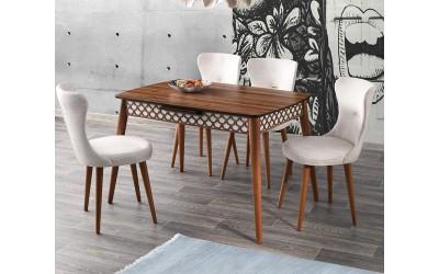 Комплект маса Melek 535 със столове Ela 362