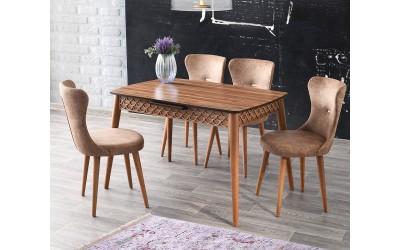 Комплект маса Mine 536 със столове Ela 366
