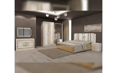 Луксозен спален комплект Double G - Бяло / Златно