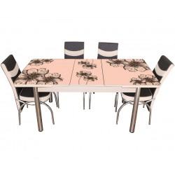 Комплект трапезна разтегателна маса с шест стола Зенит